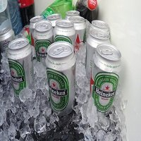 Fridge on the drinks boat, team outing